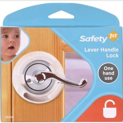 Safety 1st French Door Lever Handle Baby Proof Child Lock ~ One Hand Use