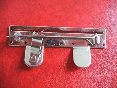 Medal Mounting Brooch Bar For Two Full Size Medals With 32mm Ribbons FS2D