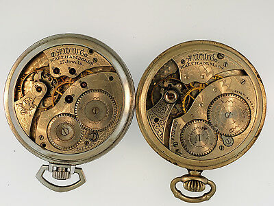 Pair of Waltham 12s Pocket Watches - for parts or restoration