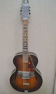 Vintage Regal Recording King Archtop Electric Guitar With  Pickup 1940's