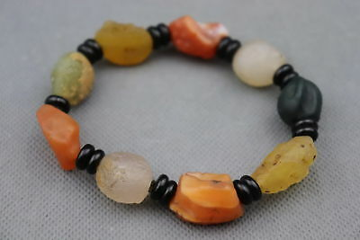 Collection Chinese Agate Carve Natural Texture Beads Delicate Decorate Bracelet