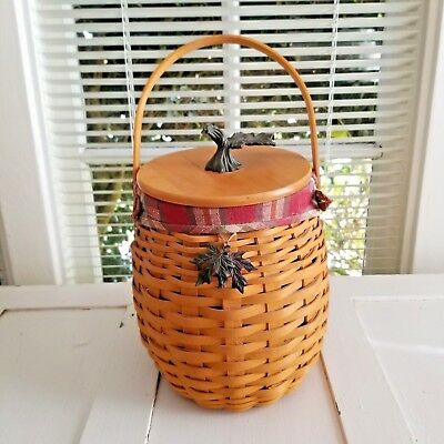 Longaberger 2000 October Fields Basket Combo complete with tie on