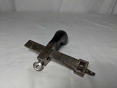 Vintage C.S. Osborne Leather Strap Gauge Cutter Pistol Grip Draw Knife