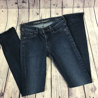 Citizens Of Humanity Dark Wash Low Rise Straight Leg Ava Jeans Size 28