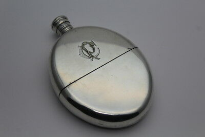 RARE UNUSUAL EARLY GEORGIAN SOLID SILVER HIP FLASK ELKINGTON & CO c.EARLY 19TH C
