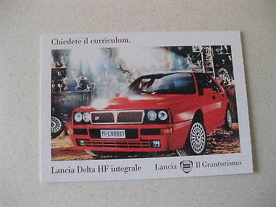 Lancia Delta Hf Inegrale Ii Grantursimo Postcard Of An Original Advert From 1992