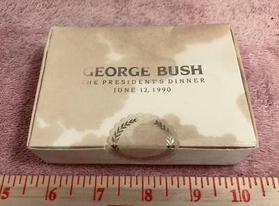 1990 George H. W. Bush's birthday cake slice in original sealed box, read story!
