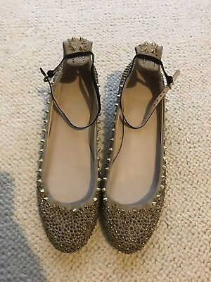 gold flat shoes size 41