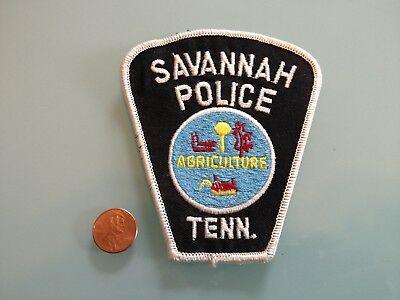 Vintage SAVANNAH Tennessee POLICE PATCH unused RARE iron on Agriculture