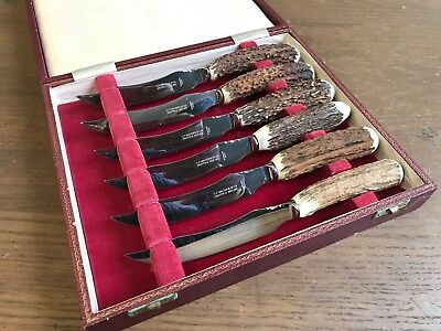 Vintage Set Of Steak Knives. Hand Made In Sheffield.