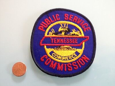 Vintage TENNESSEE PUBLIC SERVICE COMMISSION commerce PATCH unused RARE sew on