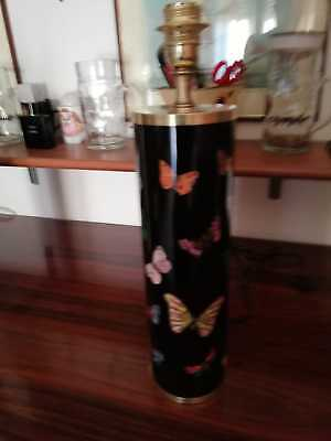 Fornasetti Table Lamp Working Big Size Butterflies On Black