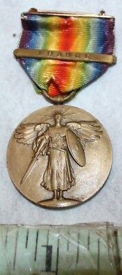 military france medal pin ribbon wwI antique vintage military french