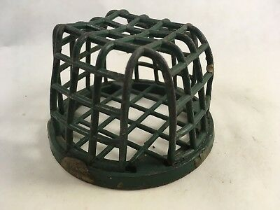 vintage metal wire box frog for floral arrangements cage style