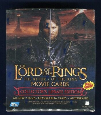 2003 Topps LOTR Lord Of The Rings Return Of King Collectors Update Hobby Box *A