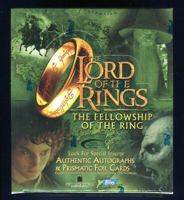 2001 Topps LOTR Fellowship Collector's Edition Factory Sealed Hobby Box *D