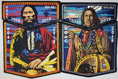 2018 NOAC Lodge 133 Ma-Nu - Two 2pc Sets - Quanah Parker & Ghost Dancer OA/BSA