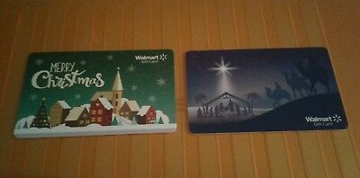 Walmart  Christmas Town Gift Card Holiday 2018, Merry Christmas Collectible Mint