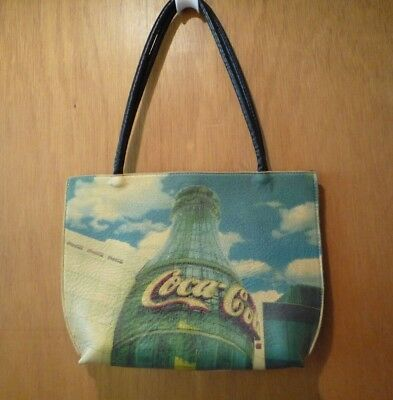 INSIDERS 1 Brooklyn NY Hand Crafted Italian Leather COCA-COLA Tote Bag