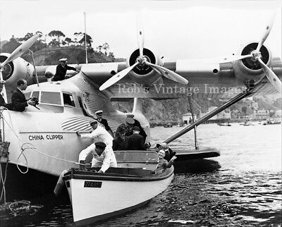Pan Am China Clipper photo Martin MB 140 Airplane Flying Boat 1930s