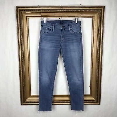 Citizens of humanity 27 Jeans Avedon ankle Mid Rise Medium Wash Raw Hem Crop