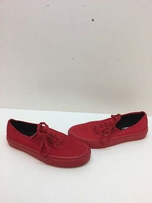 962a8e9b63 VANS Classic Lo Pro All Red Canvas Lace Up Skate Shoes Men s Size 5.5  Women s 7