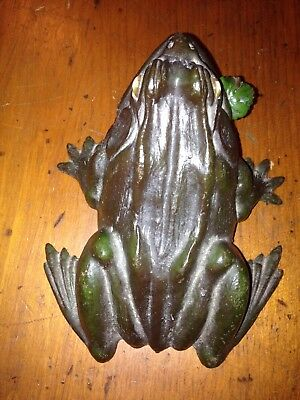 Figural Cast Iron Frog Hotel Bell