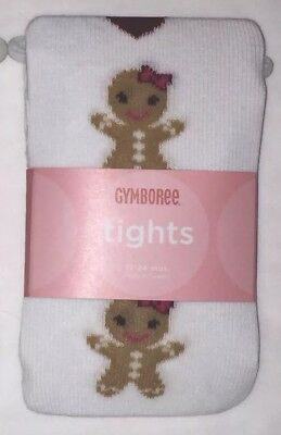 NWT Gymboree Gingerbread Girl Baby Girls Holiday Winter Cotton Tights 12-24 mo