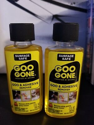 Magic Goo Gone Citrus Solvent Removes Adhesive, Gum, Grease & Tar - 2oz Each