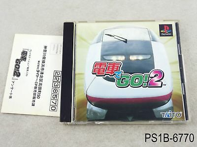 Densha de Go 2 Playstation 1 Japanese Import PS1 PS Japan by train US Seller B