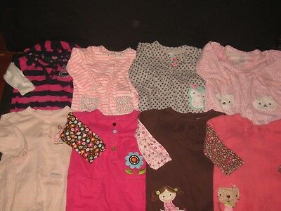 Baby Girl 12 Month  Carters One Piece Outfits  Rompers JumpSuits Lot