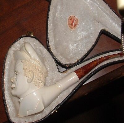 Vtg never smoked estate find Meerschaum bowl nice sea captain Turkey