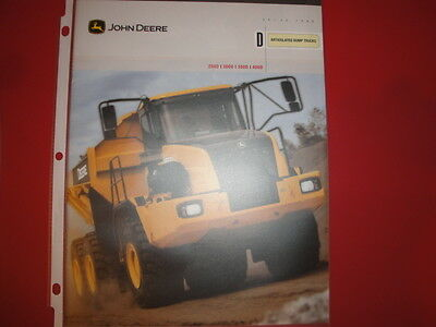 John Deere Articulated Dump Truck Advertising Brochure 250D 300D 350D 400D