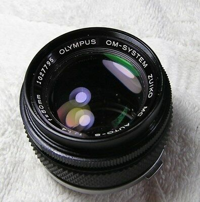 OLYMPUS OM system ZUIKO  MC  AUTO-S  1:1.4   f=50mm Lens    Estate Sale find.
