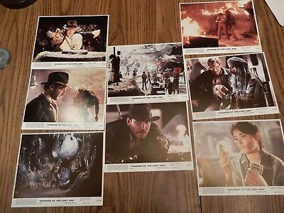 Raiders of the Lost Arc Lobby Cards - Complete Set of 8