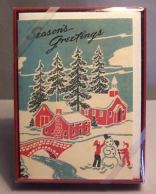 Cavallini & Co Boxed Christmas Cards 10 Cards & Envelopes