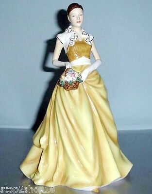 Royal Doulton RACHEL Pretty Ladies Collectible Figurine HN5526 Yellow Gown New