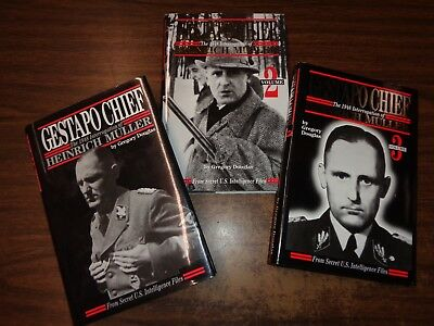 GESTAPO CHIEF - HEINRICH MULLER by GREGORY DOUGLAS 3 VOL SGN & #ED