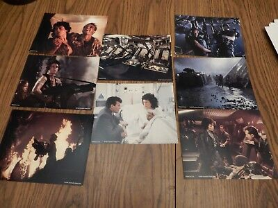Aliens Lobby Cards - Complete Set of 8 - 20th Century Fox version
