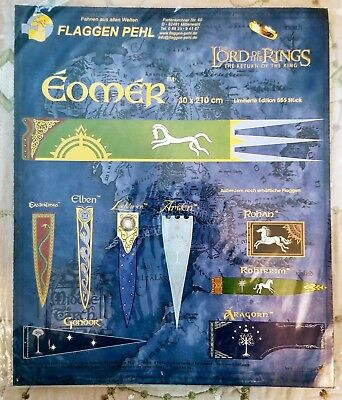 """Eomer, Lord of the Rings, Banner / Flag, 11"""" x 82"""", Imported from Germany"""