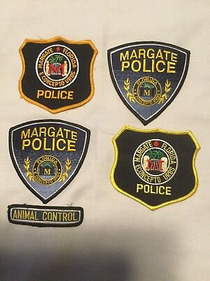 4 MARGATE POLICE DEPT Florida PD patches