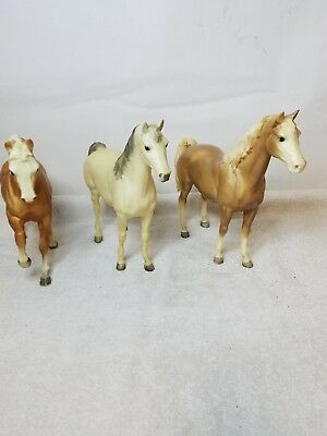 Lot Of 3 Large Breyer Horses