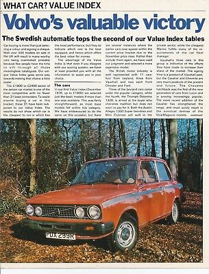 Volvo's Valuable Victory - What Car magazine, February 1977