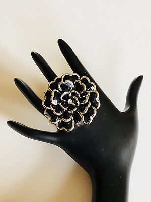Costume Jewelry Ring Adjustable Black