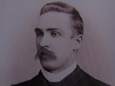 Cabinet Photo Handsome Man with Mustache – Chicago