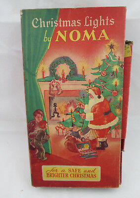 Vintage NOMA C6 Christmas Light Set Original Box