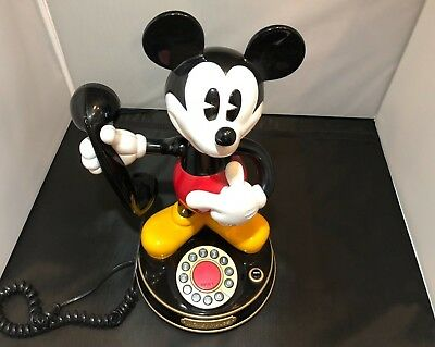 Mickey Mouse  vintage telephone, Push button dial.