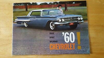 Vintage 1960 Chevrolet Sales Brochure Excellent  Plus Condition