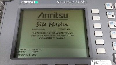Anritsu S113B Site Master Cable and Antenna Analyzer 5-1200 MHz