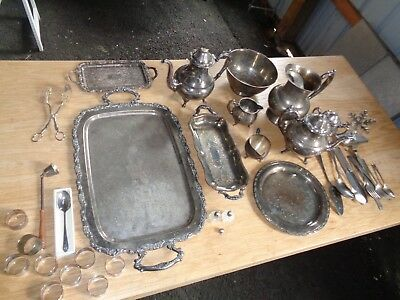 Vintage Silverplate Huge Mixed Lot